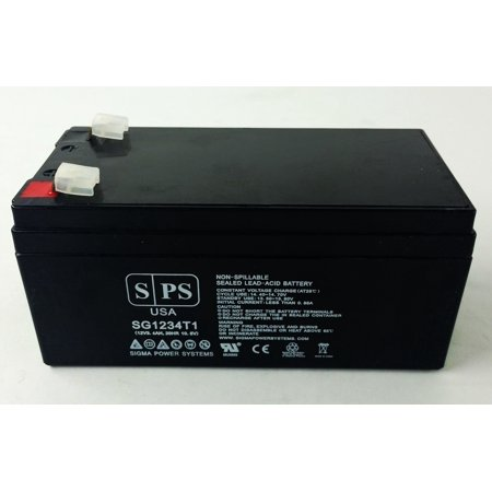 Gilbarco Kit - SPS Brand 12V 3.4 Ah Replacement Battery for Gilbarco Q1195501 (1 Pack)