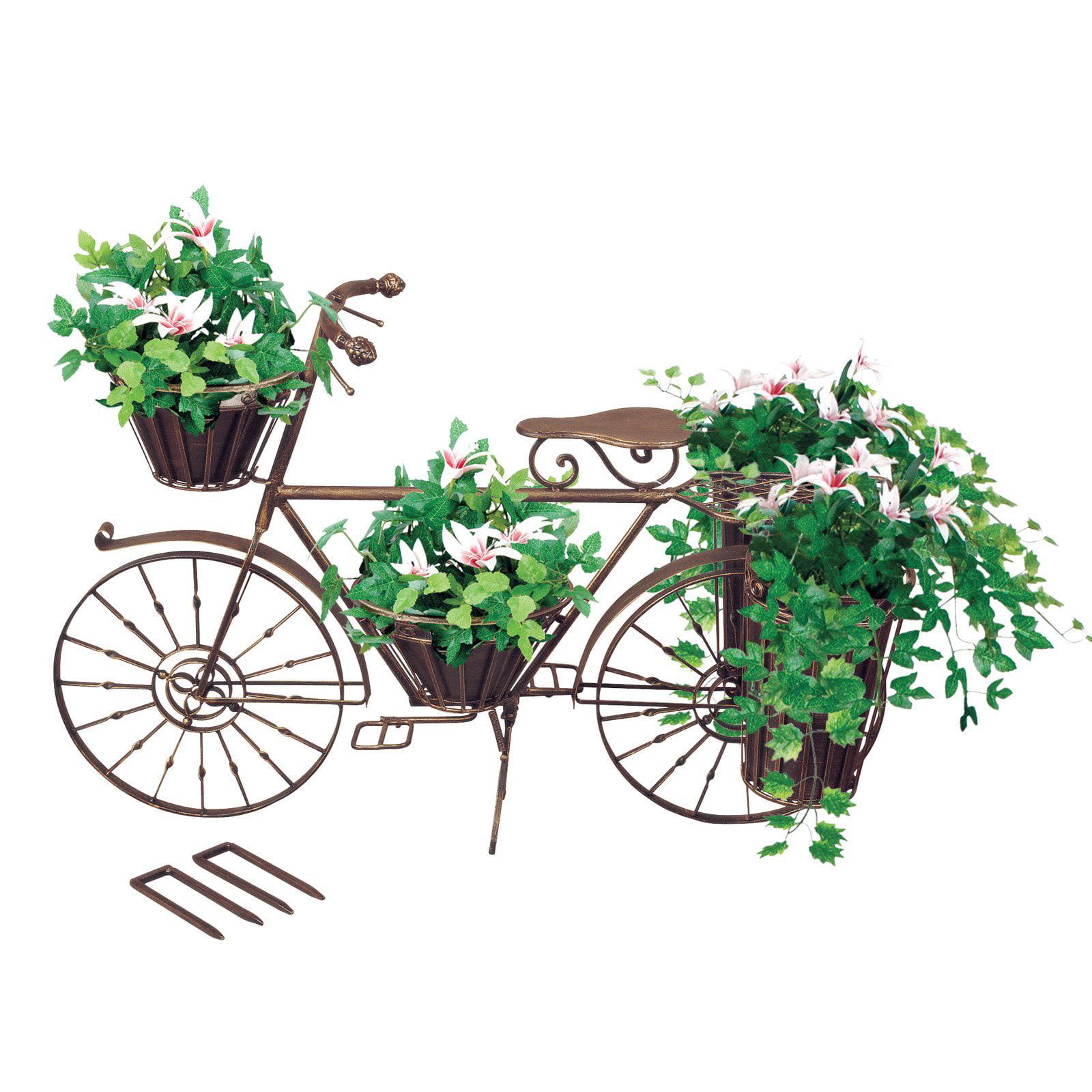Cast Iron Bronze Bicycle Planter
