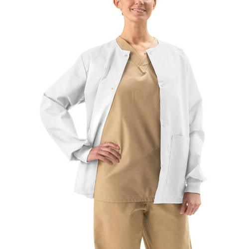 Medline ComfortEase Unisex Snap-Front Warm-Up Scrub Jacket