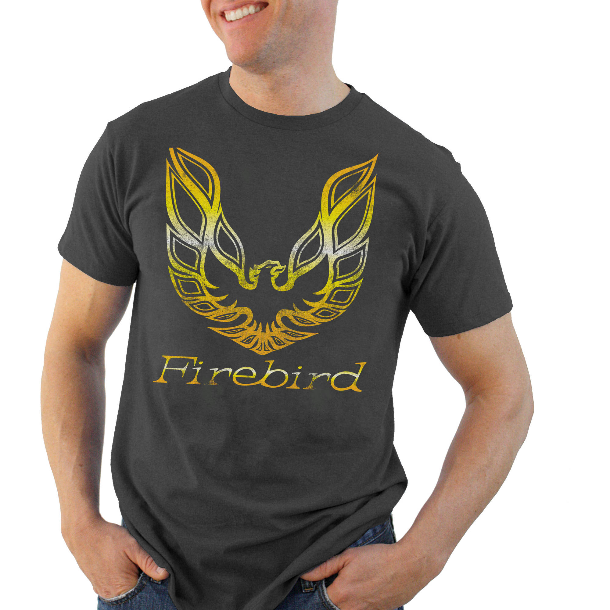 Pontiac Firebird Retro Logo Men's Graphic Tee
