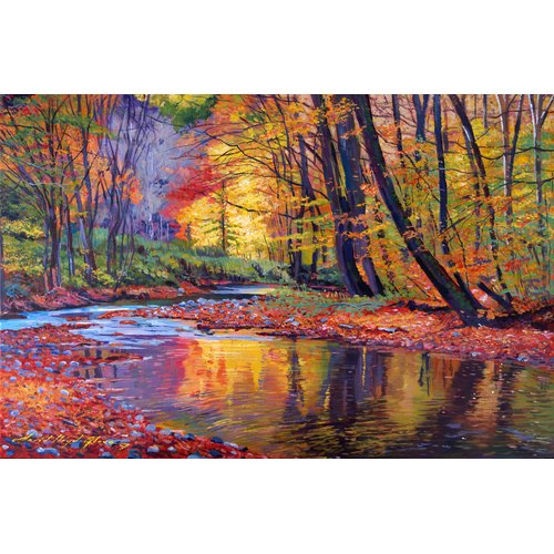 HDC International 'Bright Brooke' Painting Print on Wrapped Canvas