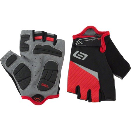 Gel Short Finger Glove - Bellwether Ergo Gel Gloves - Ferrari, Short Finger, Men's, X-Large