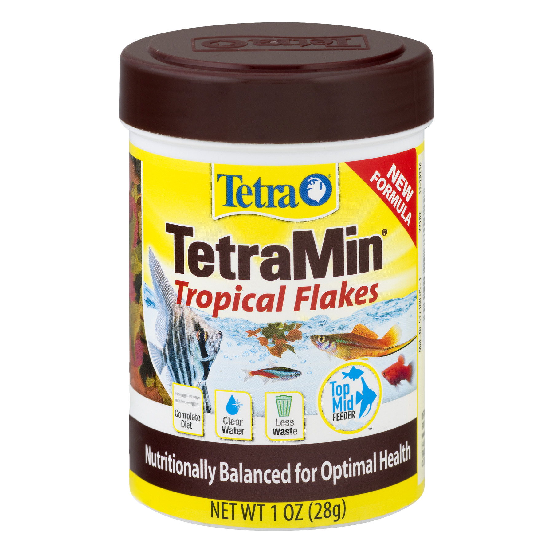 Tetra TetraMin Balanced Diet Tropical Flakes, Tropical Fish Food- 1.0 oz