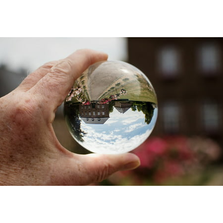 LAMINATED POSTER Town Hall Glass Ball Photo Mirroring Glass Ball Poster Print 24 x 36 (Town Hall Halloween Ball)