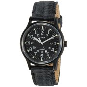 Timex TW2R68200 Expedition Men's Analog Black Watch Fabric/Leather Strap