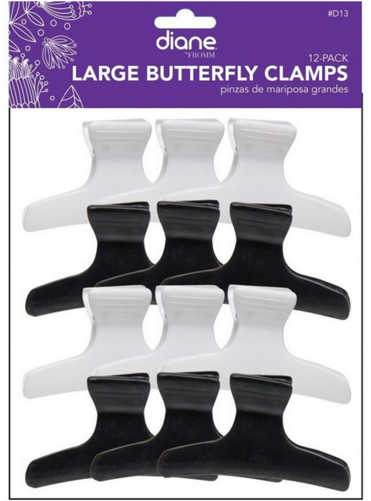 Large Butterfly Clamp 12PK LARGE PAPER CLAMP