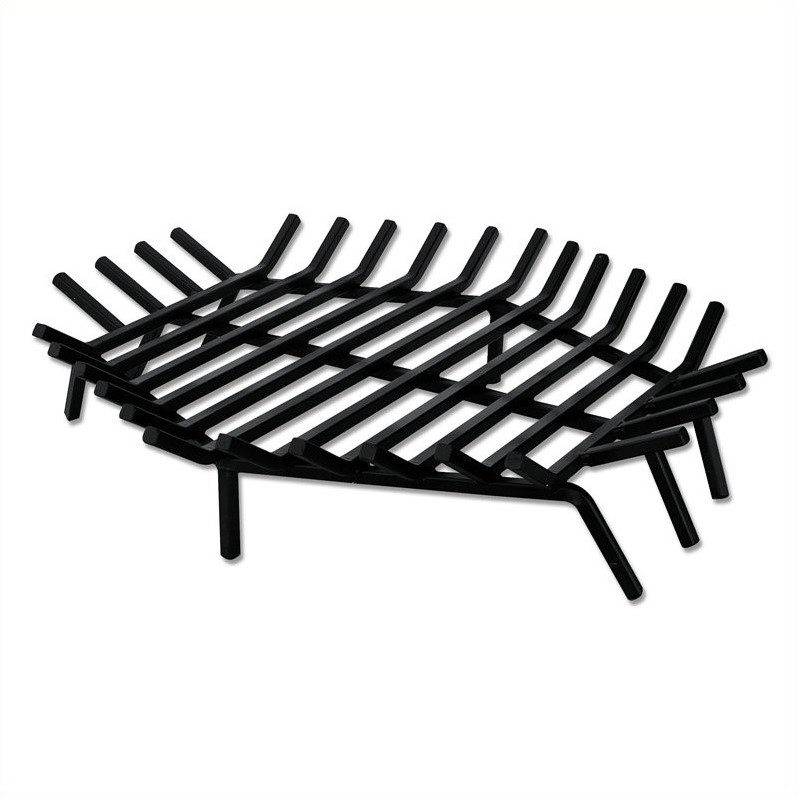 """Pemberly Row 30"""" Hex Shape Bar Grate For Outdoor"""