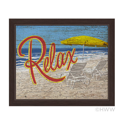 Click Wall Artwork Relax Framed Graphic Art by Click Wall Art