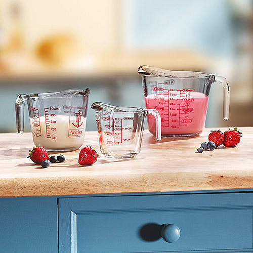 Anchor Hocking 3-Piece Measuring Cup Set by Anchor Hocking
