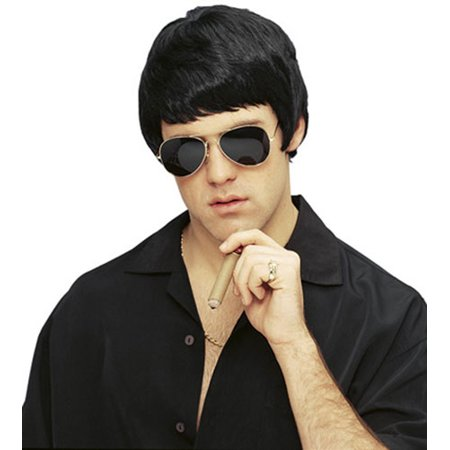 Tony Wise Guy Black Mob Boss Costume Wig