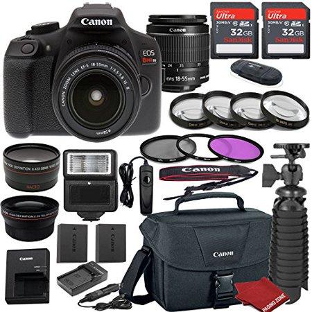 Canon EOS Rebel T6 DSLR Camera Bundle with Canon EF-S 18-55mm f/3.5-5.6 IS II Lens + 2pc Sandisk 32gb Memory + Canon Camera Bag + Spare Canon Original Battery + Value Accessory Kit Accessory Kit Value Bundle
