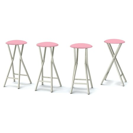 Best of Times Padded Solid Outdoor Backless Bar Stools - Set of