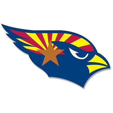 3x5 inch Cardinals SHAPED Arizona State Flag Sticker -decal shape logo az bumper
