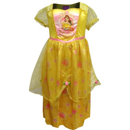 Disney Beauty and the Beast Princess Belle Dress Up Nightgown - Disney Princess Dressing Gowns