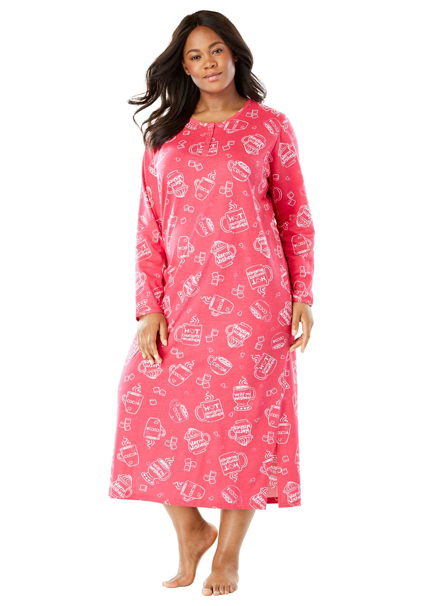 Womens Plus Nightshirts Gowns Walmartcom
