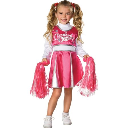 Pink and White Team Spirit Cheerleader Costume for Girls](Dallas Cowboys Cheerleader Costume For Kids)