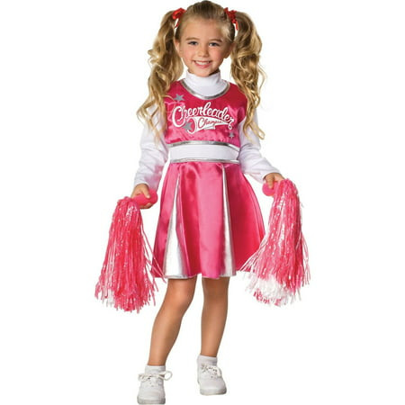 Pink and White Team Spirit Cheerleader Costume for Girls