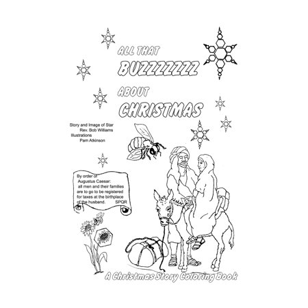 All That Buzzz about Christmas: A Christmas Story Coloring Book (Paperback) ()