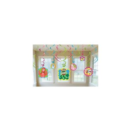 Yo Gabba Gabba! Hanging Swirl Decorations (12pc)
