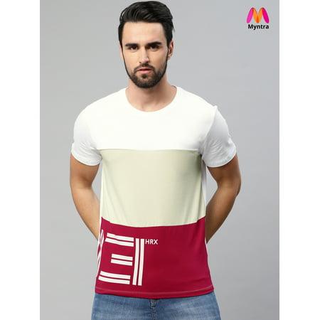595ba07b HRX by Hrithik Roshan Men White Comfort Stretch Athleisure T-shirt - image  1 of ...