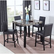 Best Master Furniture's Britney Marble Look 5 Pcs Pub Set by Best Master Furniture