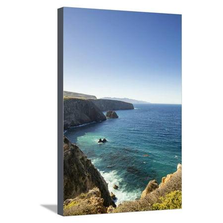 Santa Cruz Island, Channel Islands NP, CA: Hiking Along Cavern Point Trail, Coastal Views Stretched Canvas Print Wall Art By Ian