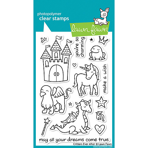 Lawn Fawn Clear Stamps-Critters Ever After