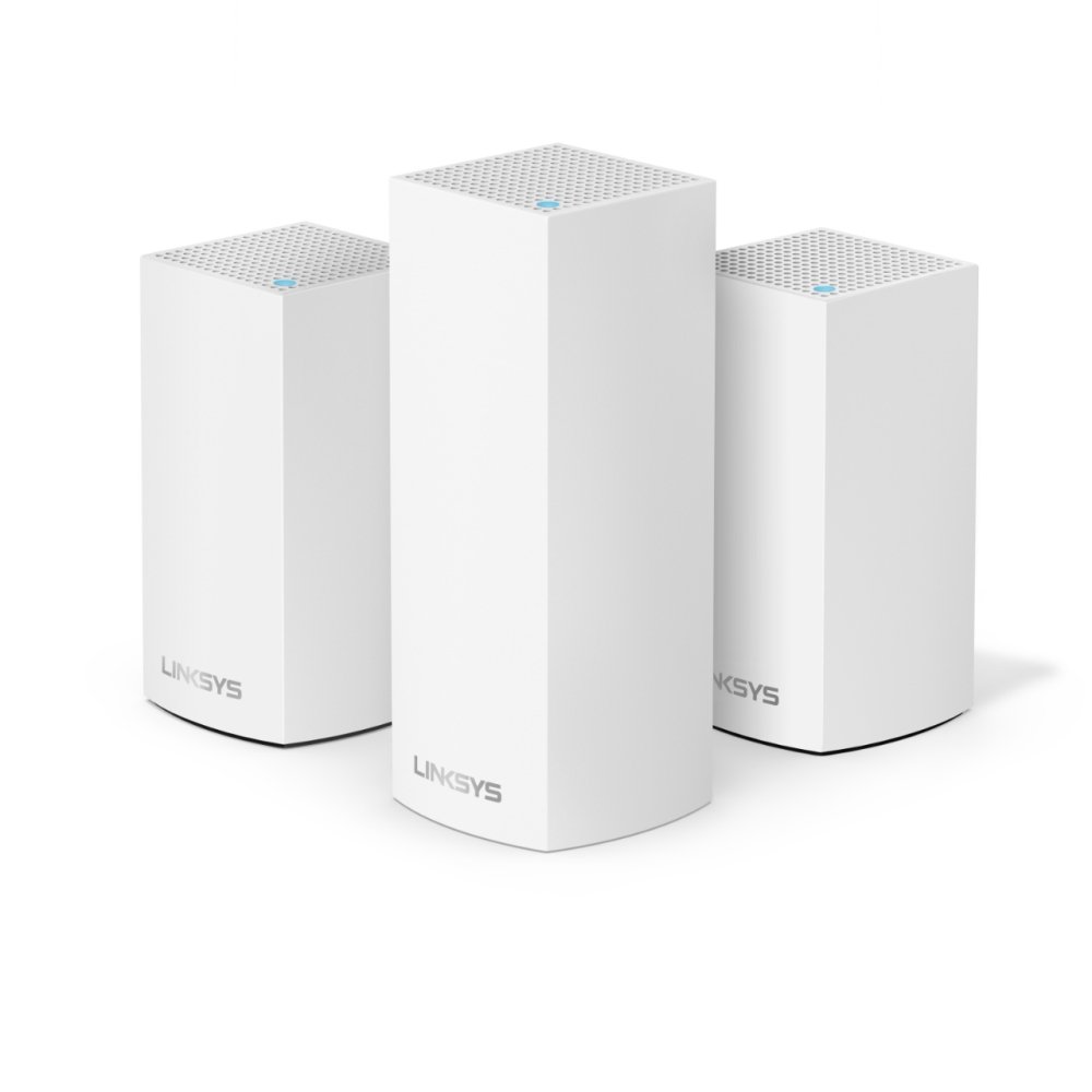 Linksys Velop AC4800 Tri-Band Whole Home Intelligent Mesh WiFi System, 3 Pack White, Easy Setup, Maximize WiFi Range & Speed for all your devices