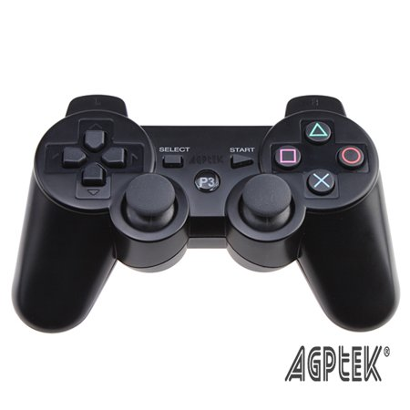 Black Game Controller for PlayStation 3 PS3 - USB Wired - Ps3 Game Stand