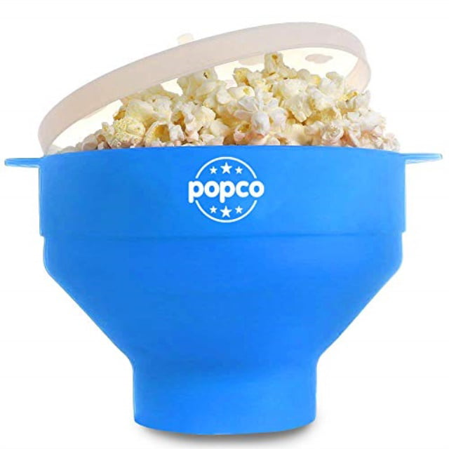 Easy to Store Easy to Clean Microwave Popcorn Popper Bowl Green Foldable Easy to Use