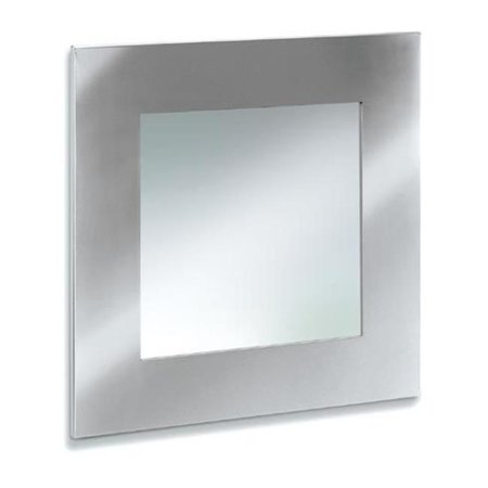 Stainless steel mirror 21.7 x 21.7 inch