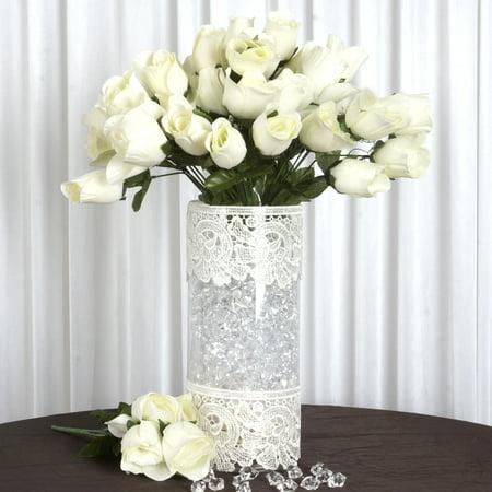Efavormart 84/pk Velvet Rose Buds Wedding Flowers Supply
