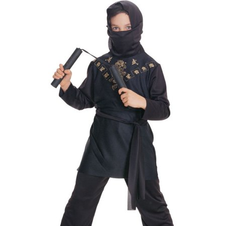 Rubies Kids Black Ninja Japanese Warrior Halloween Costume M