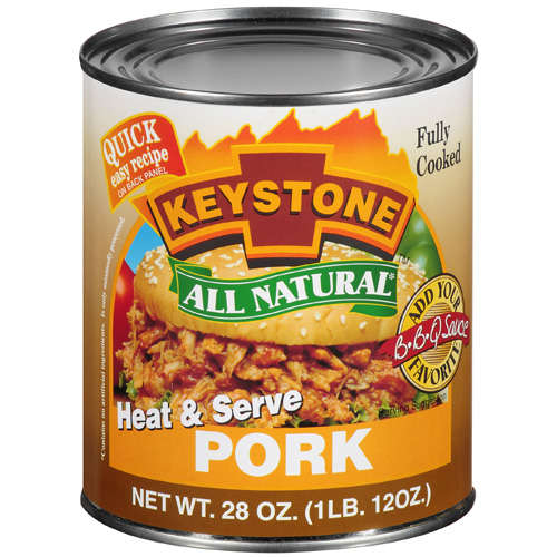 Keystone: Heat & Serve Pork, 28 oz