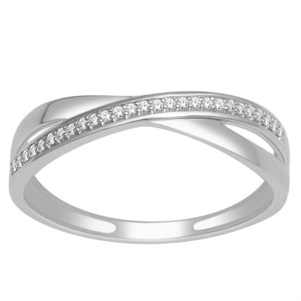 Midwestjewellery Criss Cross Wedding Band Ring 10k Yellow Gold