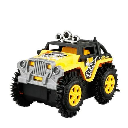 Children's Electric Stunt Flip Toy Car Cartoon Puzzle Dump Truck Off-road Rock Climber Climbing Vehicle (Best Rock Climbing Vehicle)