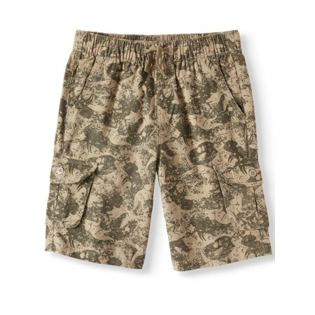 Seven Oaks Pull On Printed Cargo Shorts (Big Boys) (Mesh Pull On Shorts)