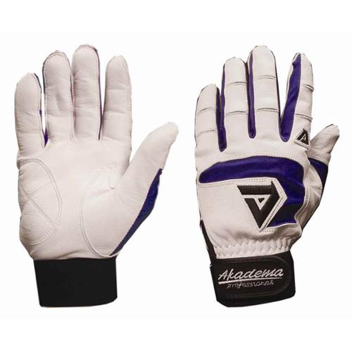 BTG490-XS(Royal)_White Batting Gloves - Royal (Extra Small)