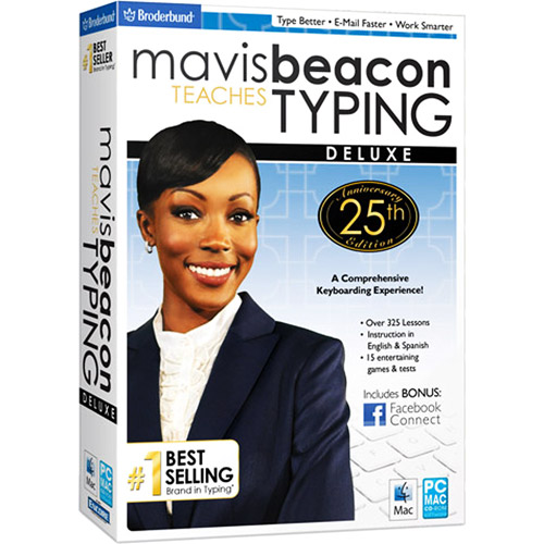 Mavis Beacon Teaches Typing Deluxe 25th Anniversary Edition - Box pack - 1 user - CD - Win, Mac