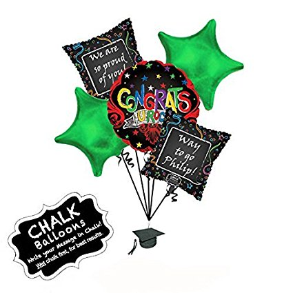 "Graduation ""Congrats U Rock"" Purple Balloon Bouquet"