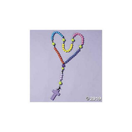 Jumbo How To Pray Wood Rosary Craft Kit