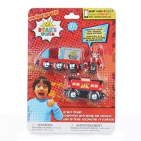 Ryan's World Conductor with Engine and Caboose Train