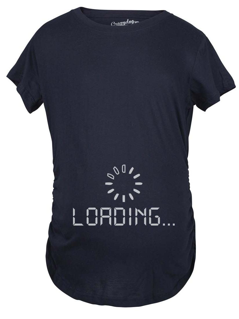 5cba93e18b738 Crazy Dog Funny T-Shirts - Maternity Baby Loading Shirt Humor Funny Pregnancy  Shirts Cheap Tees - Walmart.com