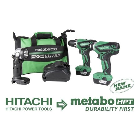 Metabo Hpt-KC10DFL2M 12 Volt Peak Lithium Ion Driver Drill and Impact
