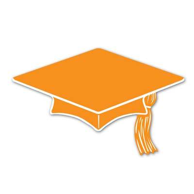 (Pack of 240) Graduation Party Mini Grad Cap Cutouts, Orange](Mini Graduation Cap)