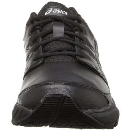 Asics Women's Gel Foundation Workplace Black Onyx Silver Ankle High Cross Trainer Shoe 6.5WW