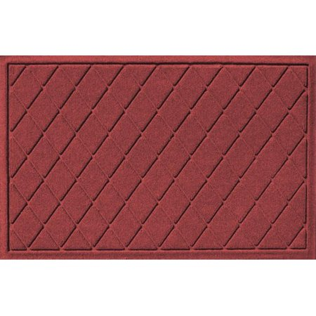 20377550023 Water Guard Argyle Mat in Red/Black - 2 ft. x 3 ft.