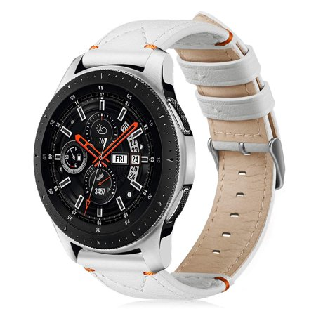Fintie Leather Band for Galaxy Watch 46mm / Gear S3 Replacement Bracelet Strap Wrist Bands w/ Classic Buckle
