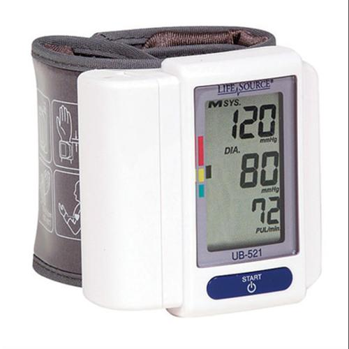 LifeSource Digital Blood Pressure Monitor Wrist 1 Each (Pack of 4)