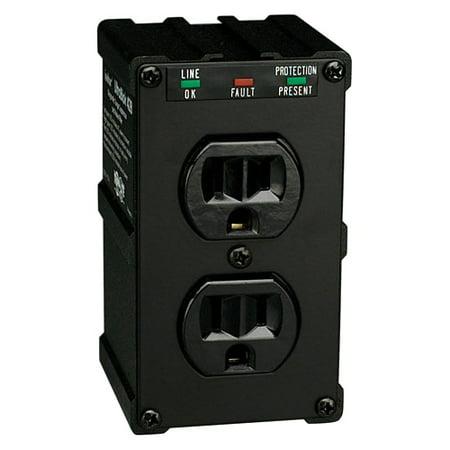3c0a30fd7 Tripp Lite ULTRABLOK 2-Outlet Surge Protector, Direct Plug-In, 1410 Joules,  Diagnostic LEDs, Black Metal Housing - Walmart.com